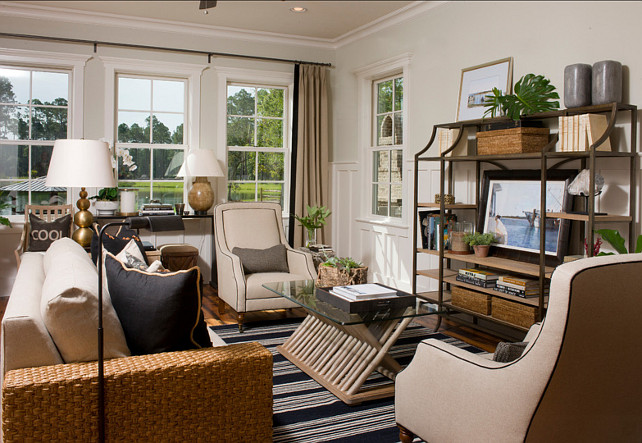 Transitional Interiors. Inspiring transitional interior design ideas. Paint Color is The color is Sherwin Williams Useful Gray #7050 #TransitionalInteriors #SherwinWilliams #UsefulGray