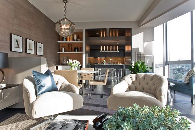 Transitional Apartment Interiors. Terrat Elms Interior Design.