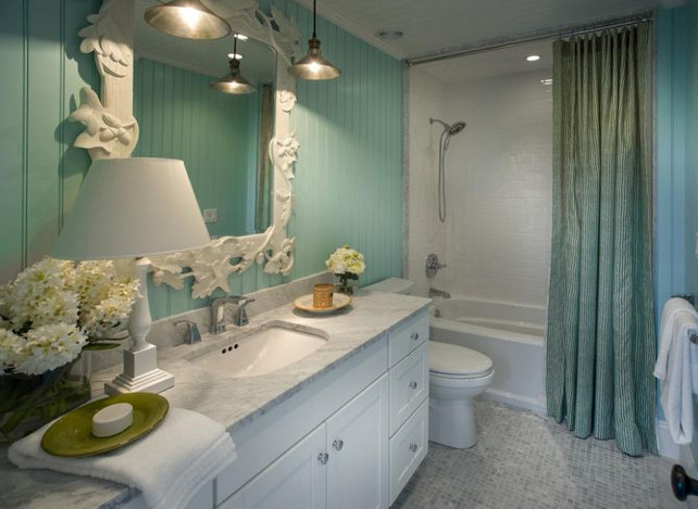 Turquoise Bathroom Ideas. Turquoise Bathroom Paint Color #Bathroom #Turquoise #PaintColor #HGTV2015DreamHouse