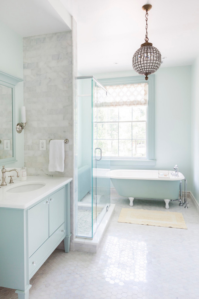 Turquoise Bathroom. Mona Ross Berman Interiors.