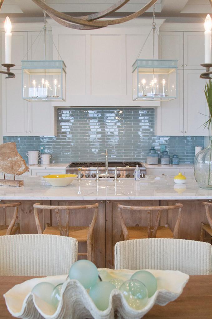 Turquoise Kitchen Lanterns. Meredith McBrearty.