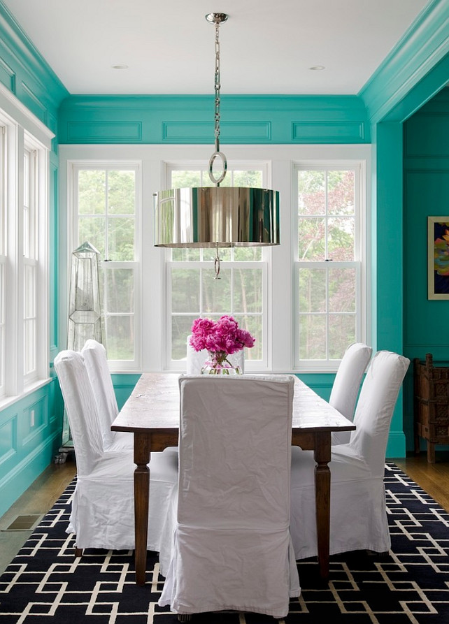 Turquoise Paint Color. Bright Turquoise Paint Color. Teal Paint Color. Paint color is California Paints Phillips Green Mid 1600s-1780 Colonial. #TealPaintColor #TurquoisePaintColor #Turquoise