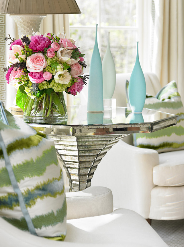 Turquoise and Seafoam. Turquoise and Green. Turquoise and Pink. #Turquoise Interior Design by Beth Webb Interiors.