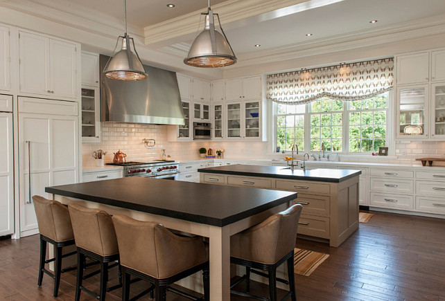 kitchen with 2 islands colonial bungalow family home design amp bedding home 20195