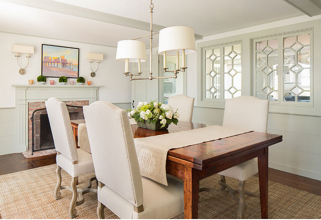Two toned Wall Color. Two Toned Wall Paint Color. Two Toned Dining Room. Two Toned Dining Room Paint Color. #TwoToned #DiningRoom #PaintColor #Wall Casabella Home Furnishings & Interiors.