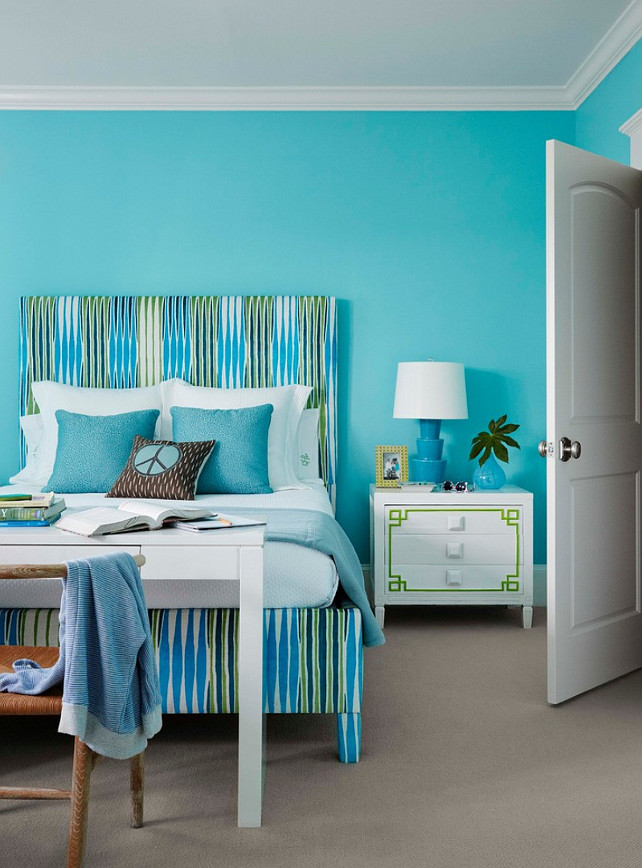 Bedroom design interior design ideas home bunch for Teal paint colors for bedrooms