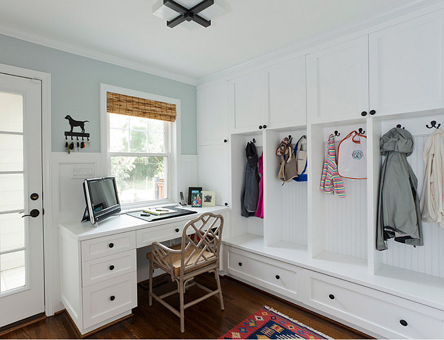 Mudroom Design Ideas. Great mudroom design ideas can be found here. I am loving this mudroom! #MudroomDesign #Mudroom