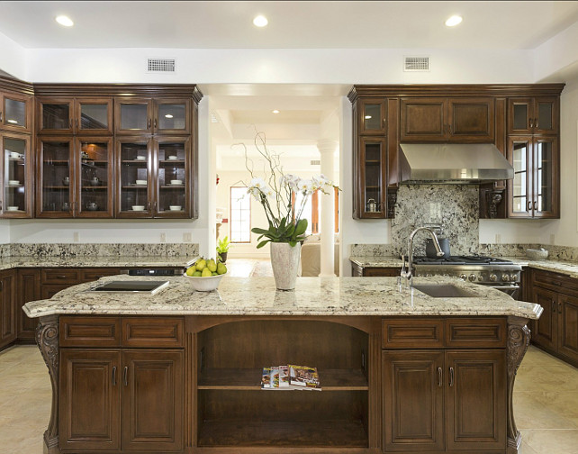 Large Kitchen Island Ideas. #KitchenIsland Via Sotheby's Homes