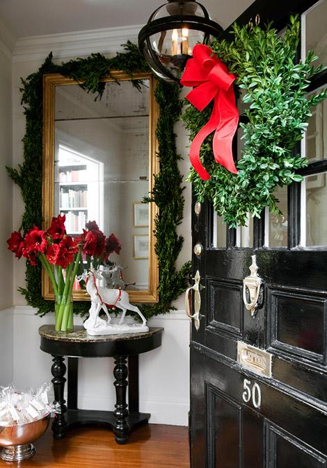 Christmas Entryway Decorating Ideas Part - 26: Foyer. Via ...