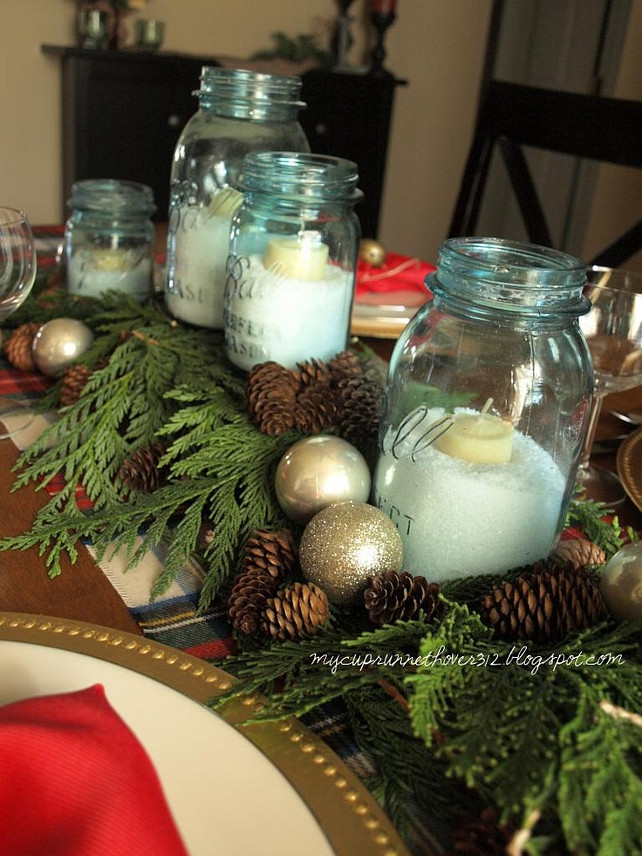 Festive tabletop ideas for holiday entertaining home - Deco de noel exterieur a faire soi meme ...