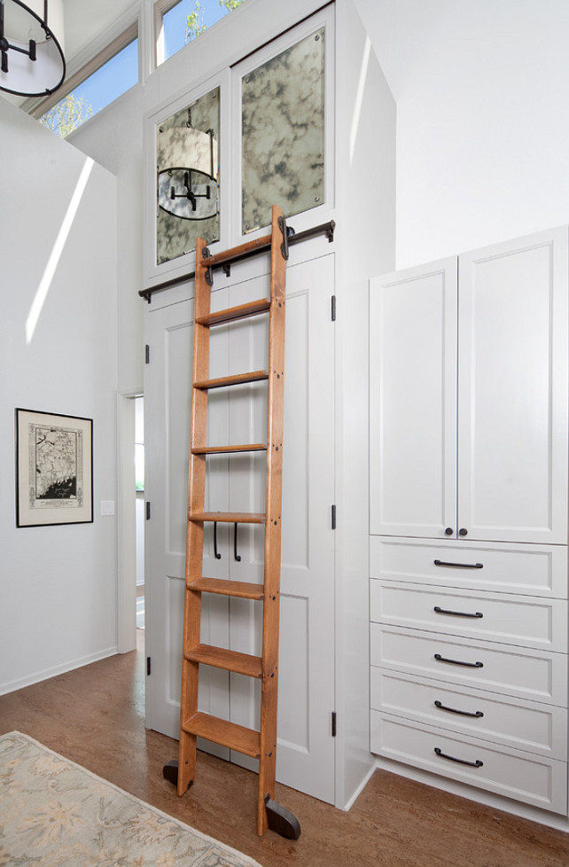 Walk-in Closet. Walk-in Closet Ideas. Walk-in Closet with ladder. #WalkinCloset #Closet #Ladder Jessica Risko Smith Interior Design.
