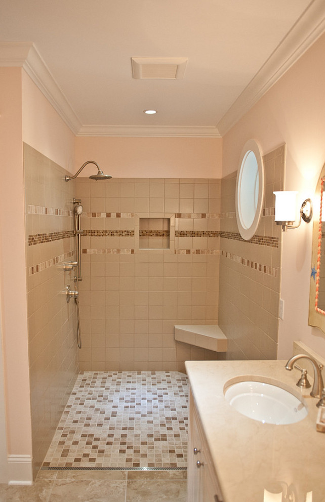 Bathroom Walk In Shower Ideas. #Shower #WalkinShower