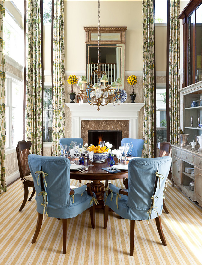 A Dedicated Dining Room With 20 Foot High Ceilings