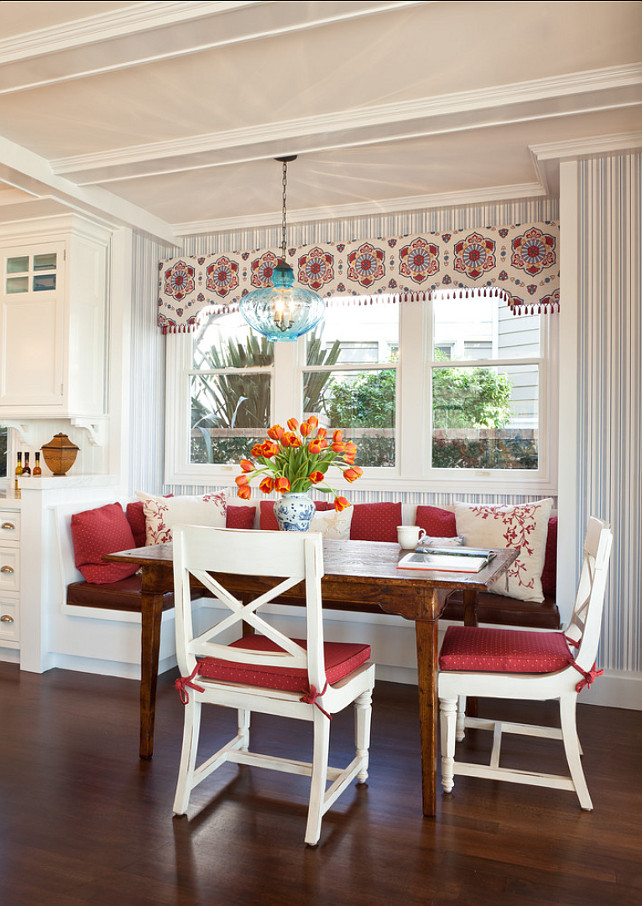 Breakfast Nook. Vintage Inspired Breakfast Nook. Warren Sheets Design Inc.