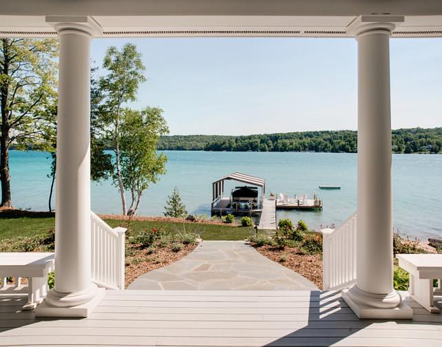 Waterfront Homes. Beautiful Waterfront Homes with Coastal Interiors. #WaterfrontHomes #CoastalInteriors