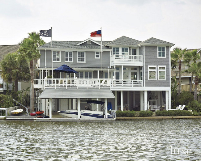 Waterfront home exterior ideas. Laura C. Singleton. Tria Giovan Photography.
