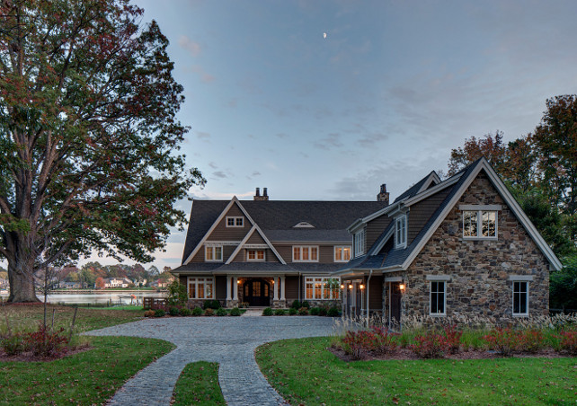 Waterfront home. #WaterfrontHome #ExteriorWaterfrontHome Hammond Wilson Architects.