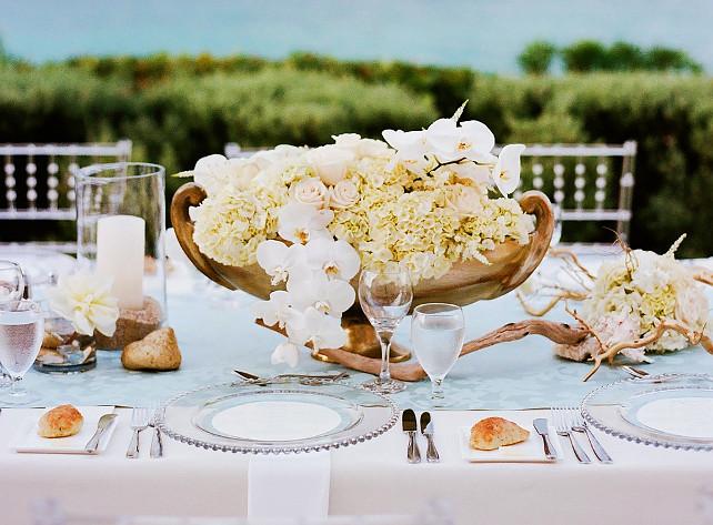 Wedding Table Decor Style Me Pretty via Nicety