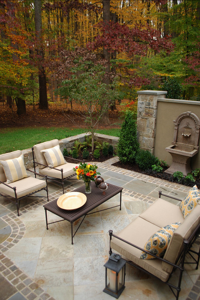 Patio Flooring Design. Elegant patio stone flooring design. #patioFlooring #PatioDesign