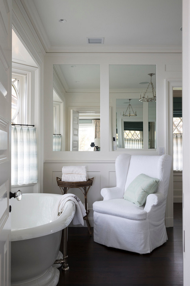White Bathroom Design #Whitebathroom