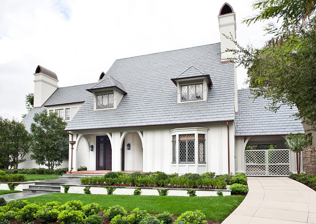 White Home Exterior Paint Color. Off-White Home Exterior Paint Color.Off-White Home Exterior Paint Color: Siding Paint Color: Dunn Edward's Swiss Coffee. Trim Paint Color: Dunn Edward's Muslin. Burnham Design