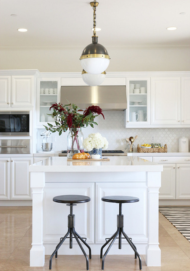 White Kitchen Cabinet Benjamin Moore White Heron. Benjamin Moore White Heron. #BenjaminMooreWhiteHeron
