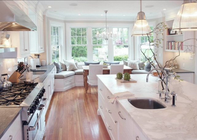 White Kitchen Countertop Ideas Classic Marble Countertop For Timeless White Kitchen