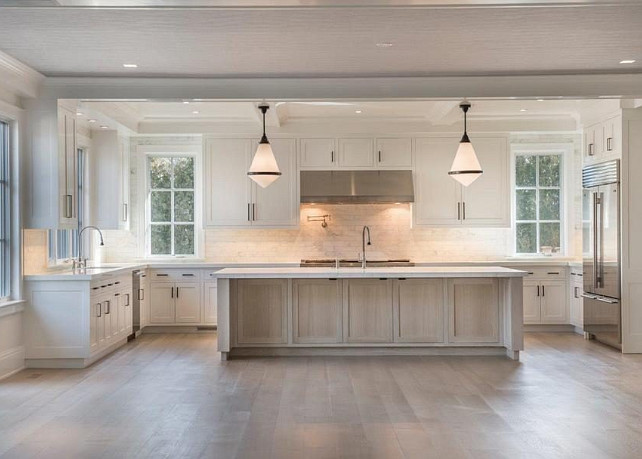Top White Kitchen with Whitewash Island Pin Whitewash Kitchen Island. White Kitchen with whitewash island. White Kitchen with whitewash stained kitchen island. #WhiteKitchen #Whitewashisland #WhitewashStainedWood #WhitewashKitchenIsland Michael Davis Design and Construction.