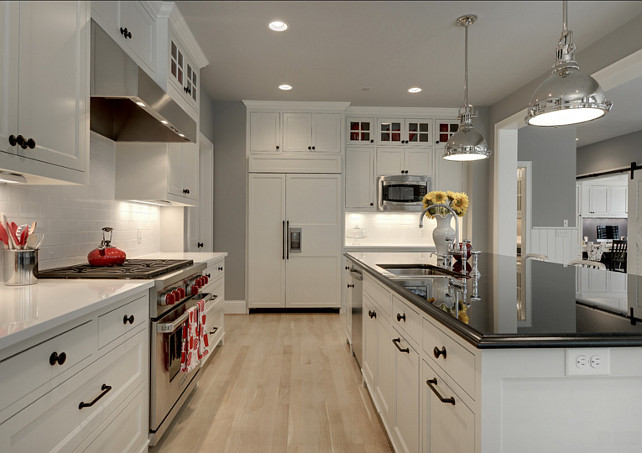 White Kitchen. Beautiful white kitchen with some smart design ideas. #WhiteKitchen #KitchenDesign