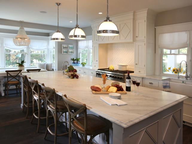 White Kitchen. Classic White Kitchen Design. #WhiteKitchen