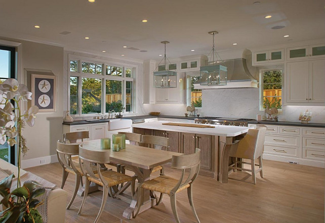 White Kitchen. Kitchen Kitchen Design. White Kitchen with light hardwood floors. #WhiteKitchen #LightHardwoodFloors #Kitchen  Brandon Architects, Inc.