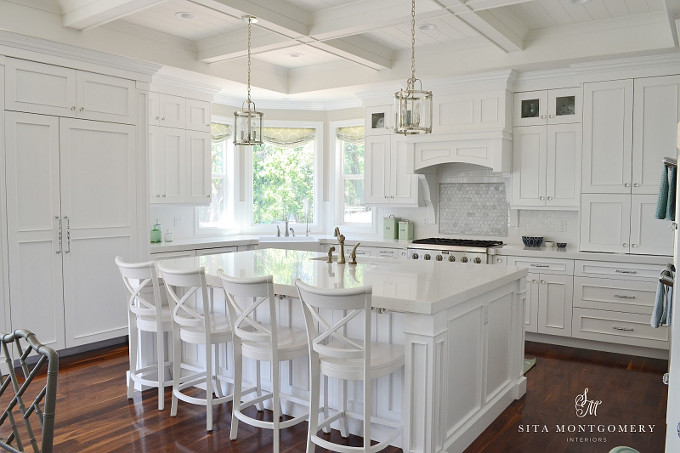 White Kitchen. All white kitchen. Sita Montgomery Interiors.