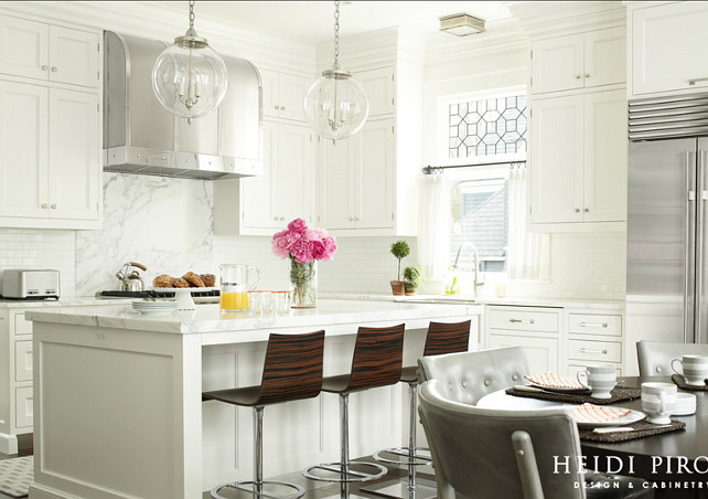 Transitional White Kitchen Cabinets transitional white kitchen - home bunch – interior design ideas