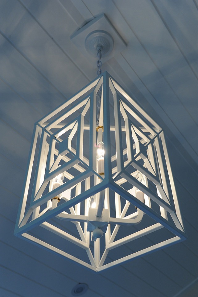 White Lantern. White geometric lantern pendant. #geometriclanternpendant #WhiteLantern  Nina Liddle Design.