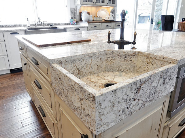 Granite Sink. Granite Sink Ideas. White Springs granite. #GraniteSink #WhiteSpringGranite