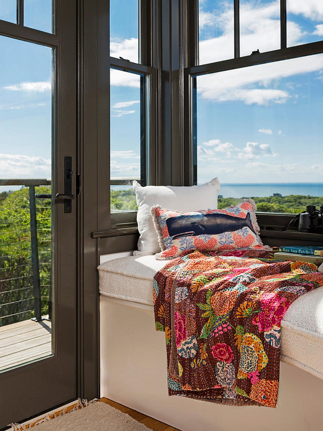 Window Seat. Window Seat Ideas. Coastal Window Seat. #WindowSeat HGTV.