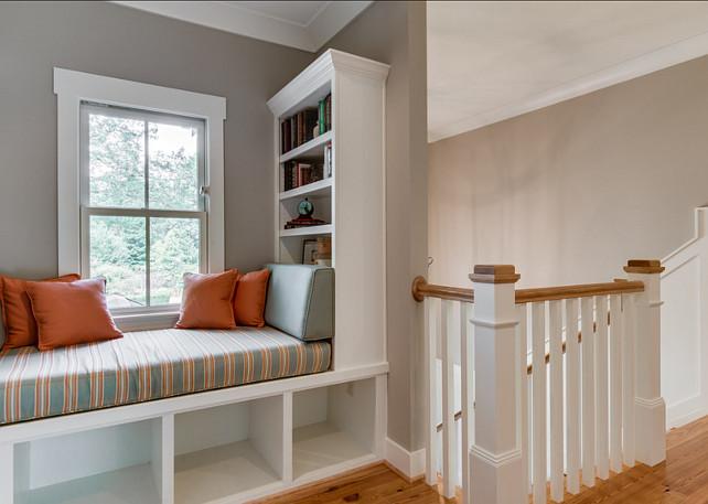 Window-seat. Window-seat ideas. Reading Nook #WindowSeat #ReadingNook #Nook #Builtin