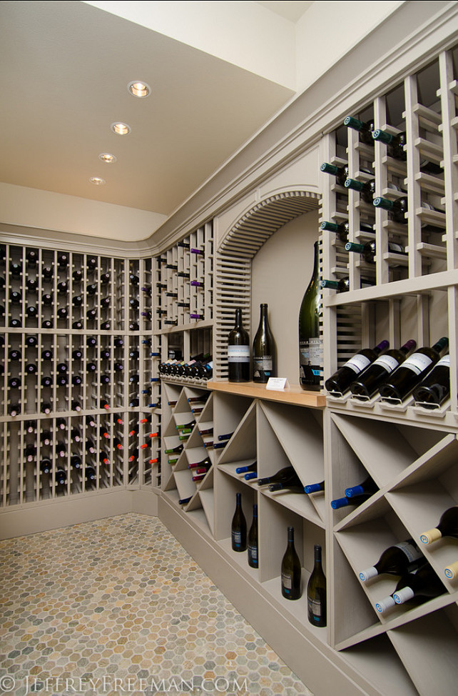 Stylish family home with transitional interiors home for Wine cellar design ideas