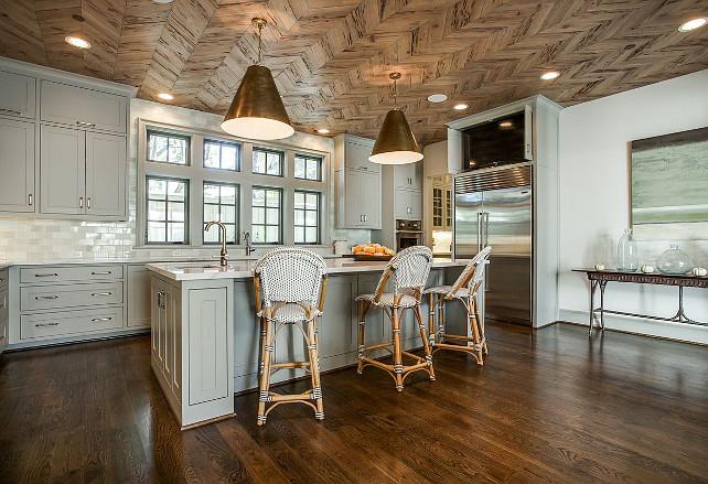 Wood Herringbone Ceiling Ideas. Kitchen Wood Herringbone Ceiling. Rustic  Wood Herringbone Ceiling. #
