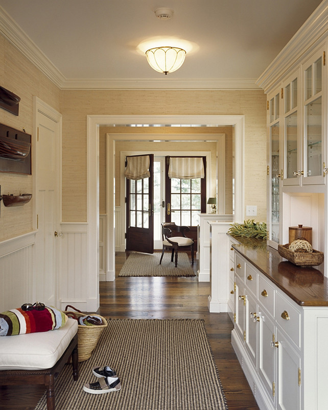 Mudroom Ideas. This is a great classic mudroom design. #Mudroom #MudroomDesign