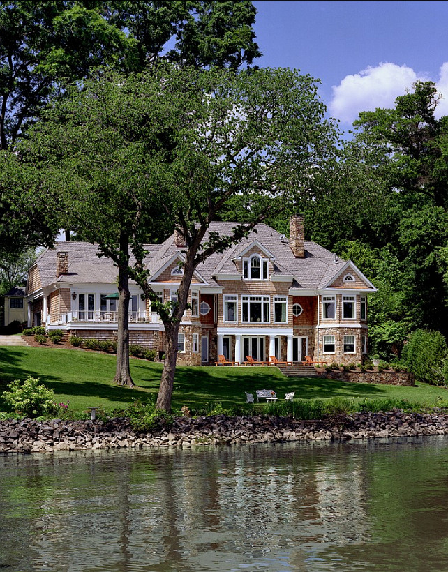 Shingle waterfront home ideas. #ShingleHomes