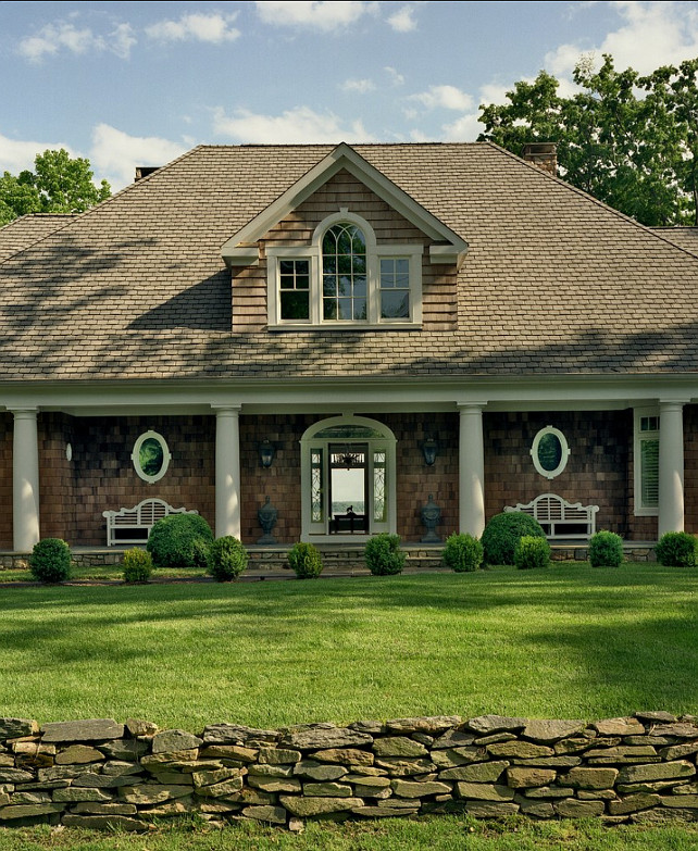 Shingled Home Design. Beautiful shingle exterior. #Shingled #Homes