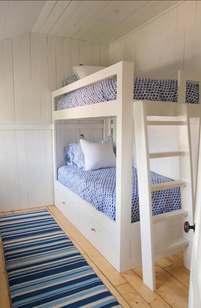 Bunk Room. Easy Bunk Room Design Ideas: The linens are from Roberta Roller Rabbit. #BunkRoom #BunkRoomDesign #EasyDesignIdeas #EasyInteriors