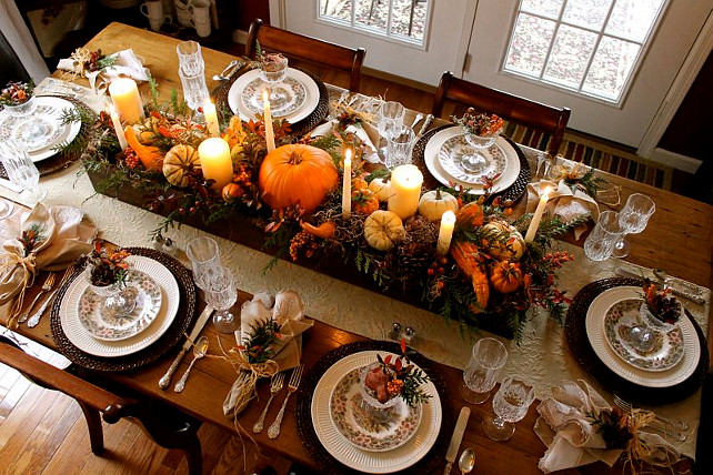 Easy thanksgiving decorating ideas home bunch interior for Easy table settings for thanksgiving