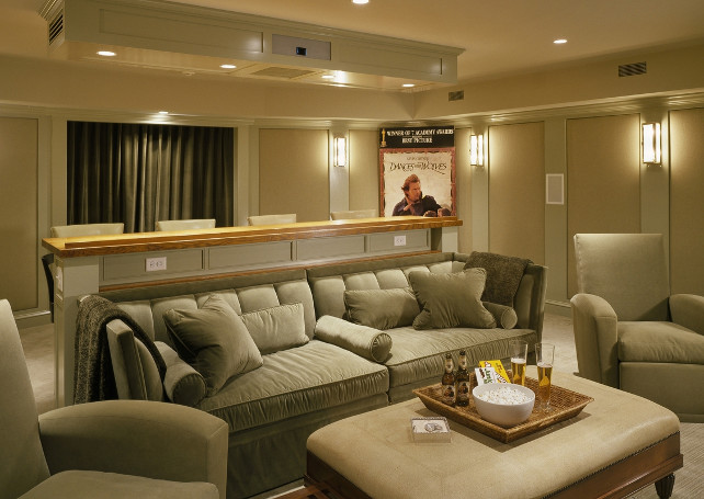 Media Room. Comfortable and stylish media room design. Very elegant. #MediaRoom