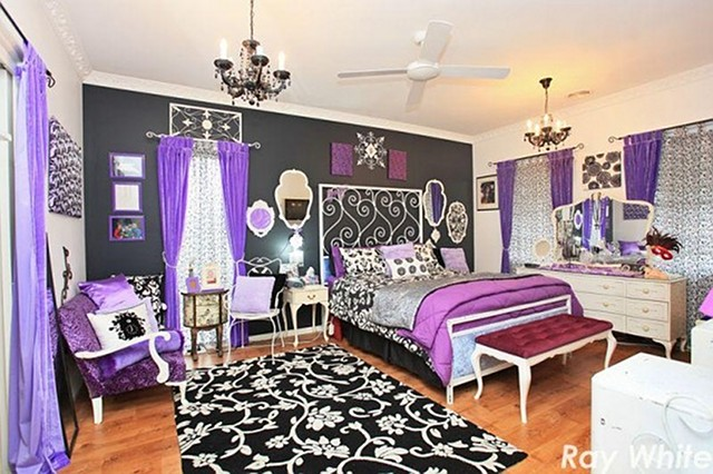 Black And Purple Bedroom purple and zebra bedroom ideas ~ descargas-mundiales