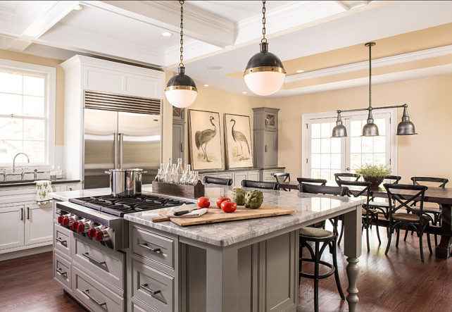Cabinet Hardware. This kitchen has some great hardware. This post shares the hardware source. #Kitchen #Hardware #Blogs