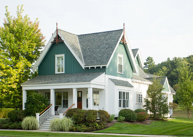 Cottage style exterior paint colors pictures to pin on for Cottage siding ideas