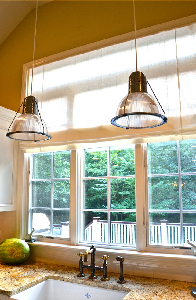 Kitchen Lighting Ideas. These pendants are fun to use above the island or sink. #Lighting #Pendants #Kitchen
