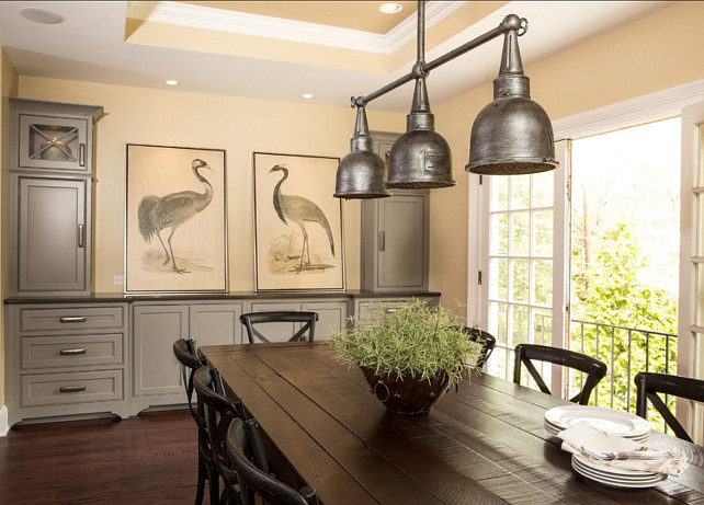 Dining Area. Great Transitional Dining Area Design #DiningArea #TransitionalDesign #Interiors